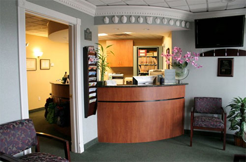 front desk at East Lyme Oral and Maxillofacial Surgery